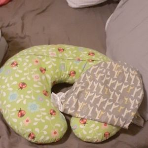 Boppy pillow with extra cover